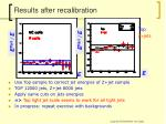 results after recalibration