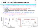 lhc search for resonances