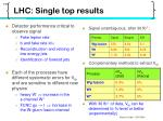 lhc single top results