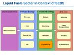 liquid fuels sector in context of seds