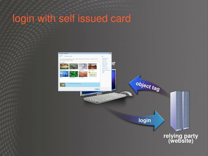 login with self issued card