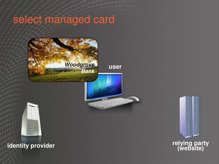 select managed card