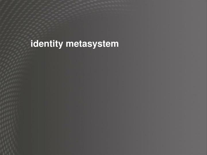 identity metasystem