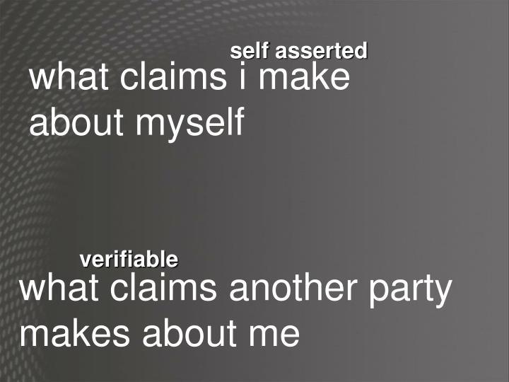 self asserted