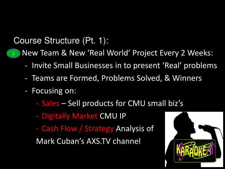 Course Structure (Pt. 1):