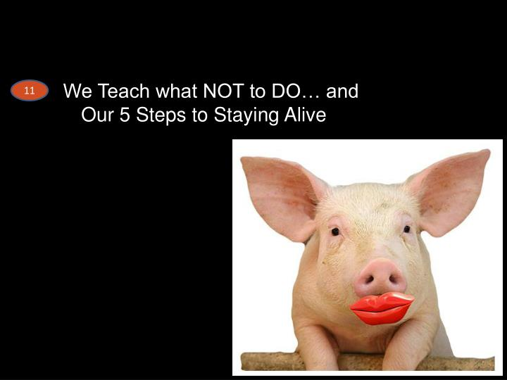 We Teach what NOT to DO… and