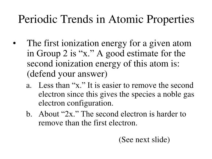 Periodic Trends in Atomic Properties