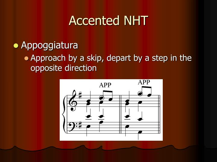 Accented NHT
