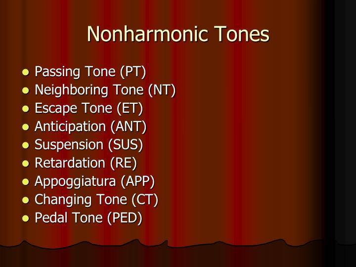 Nonharmonic tones1