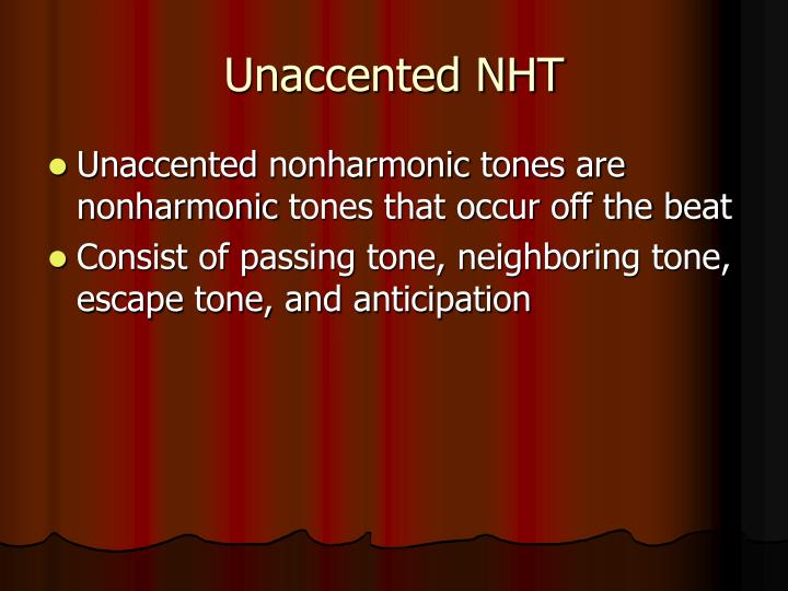 Unaccented NHT