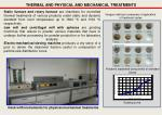 thermal and physical and mechanical treatments