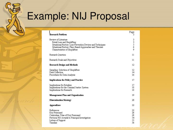 Example: NIJ Proposal