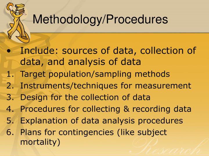 Methodology/Procedures