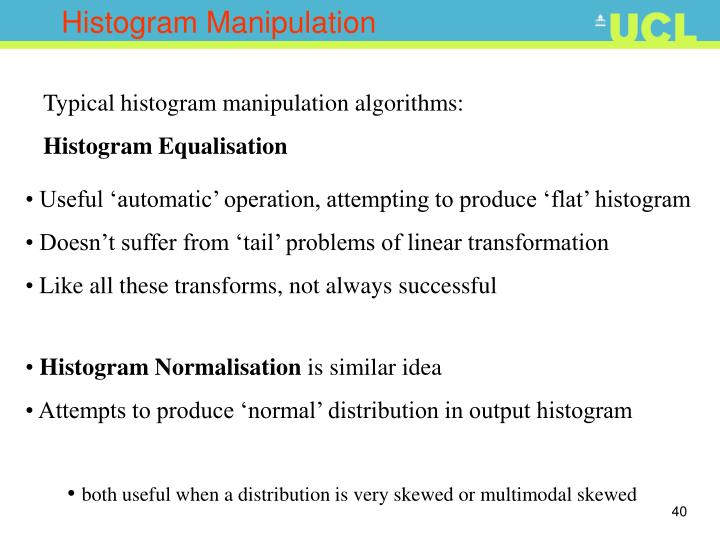 Histogram Manipulation