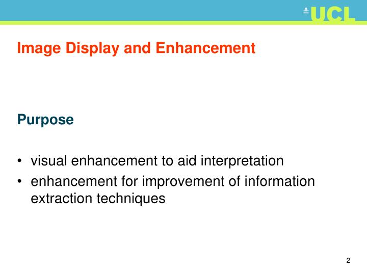 Image display and enhancement