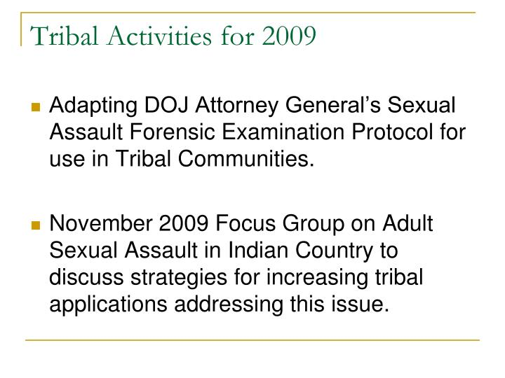Tribal Activities for 2009