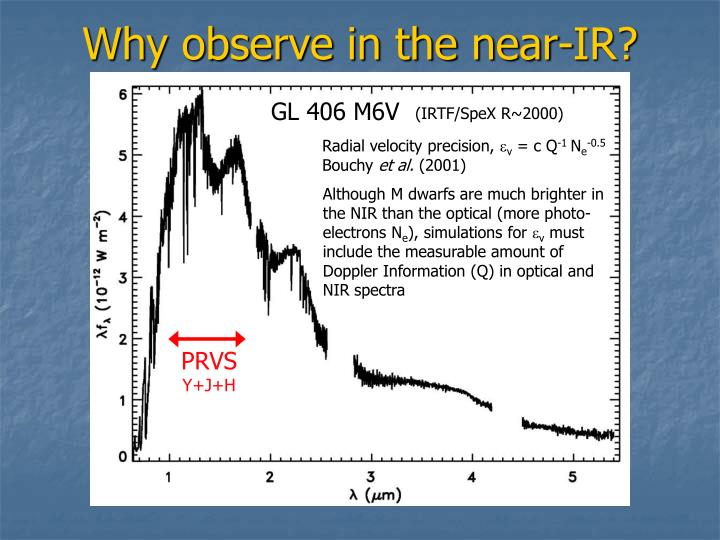 Why observe in the near ir