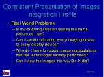 consistent presentation of images integration profile