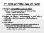 2 nd type of path look up table
