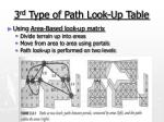 3 rd type of path look up table