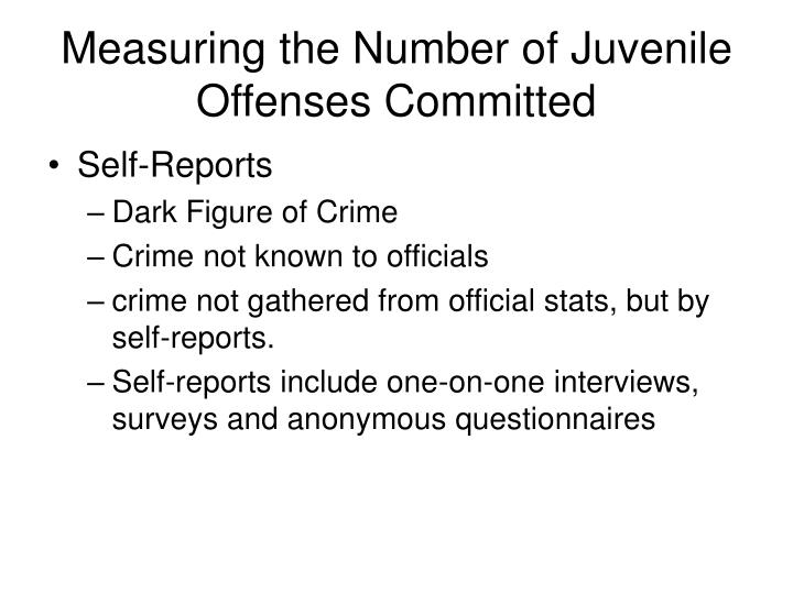 Measuring the number of juvenile offenses committed1