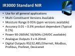 ir3000 standard nir1