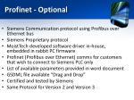profinet optional