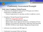 conformity assessment example