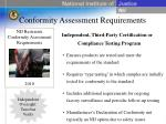 conformity assessment requirements