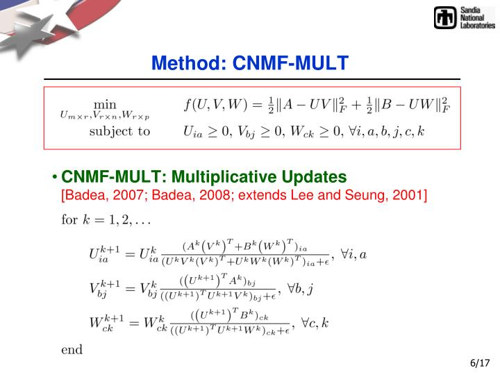 Method: CNMF-MULT