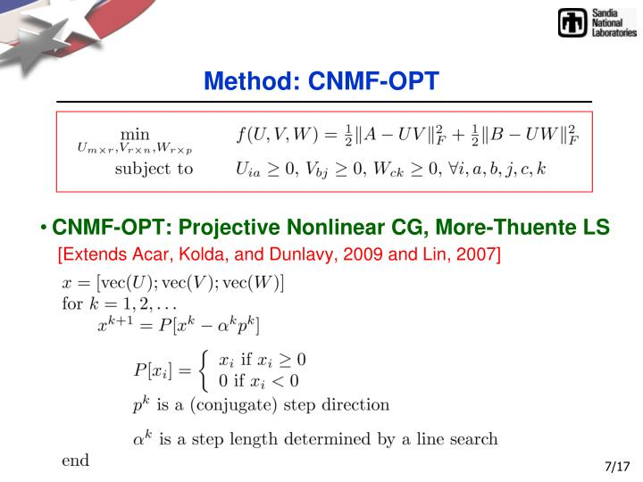 Method: CNMF-OPT