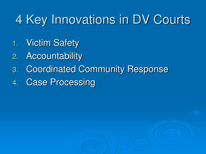4 key innovations in dv courts