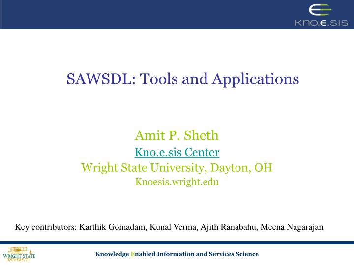 sawsdl tools and applications n.