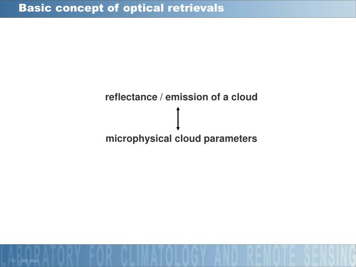 Basic concept of optical retrievals