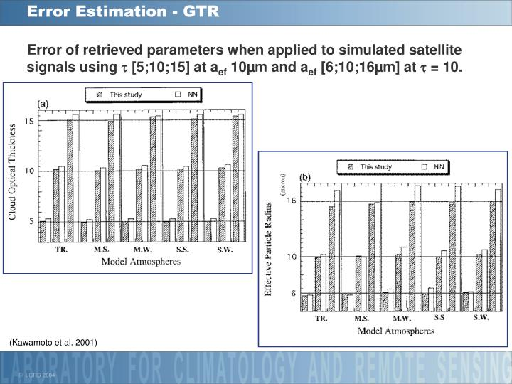 Error Estimation - GTR