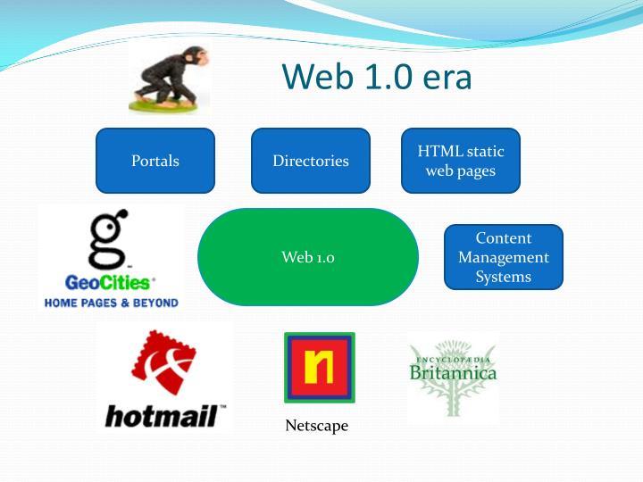 Web 1.0 era