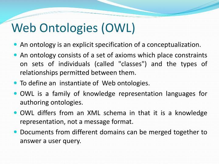 Web Ontologies (OWL)