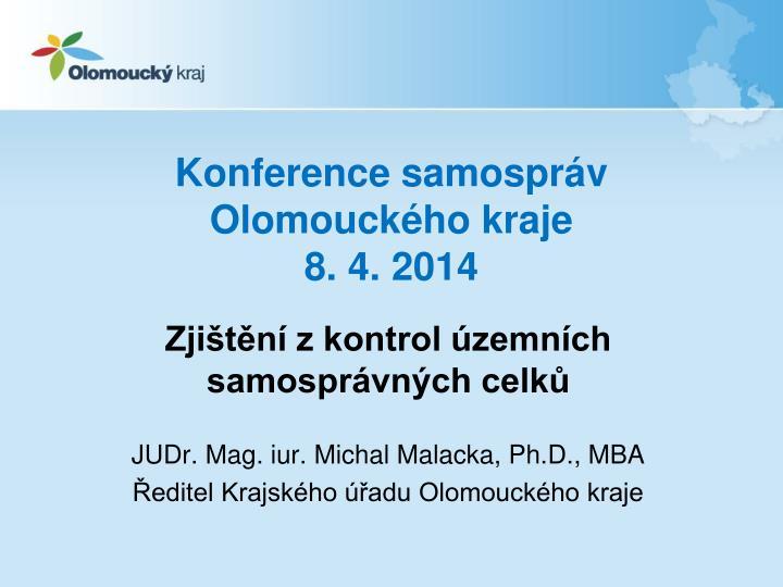 Konference samospr v olomouck ho kraje 8 4 2014