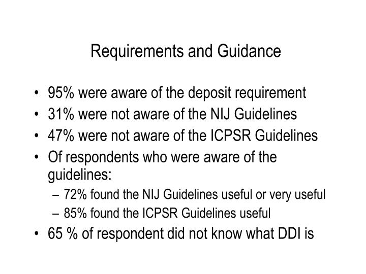 Requirements and Guidance