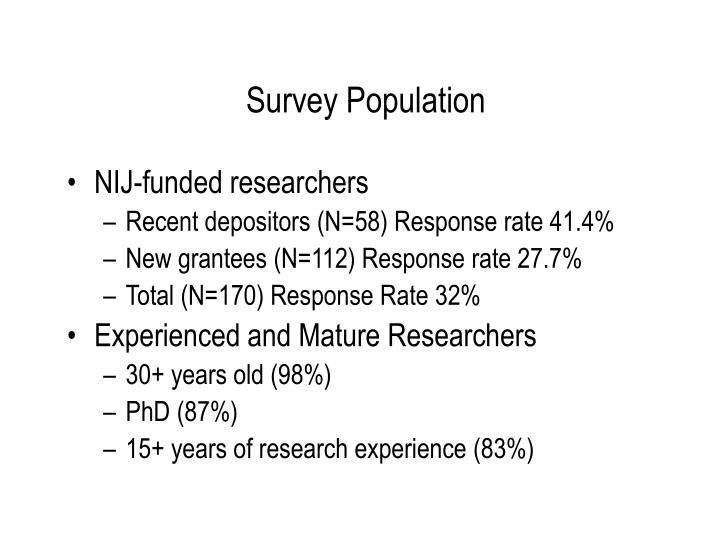 Survey Population