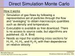 direct simulation monte carlo