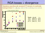 rga losses divergence
