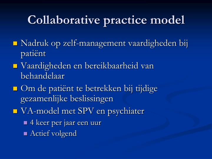 Collaborative practice model