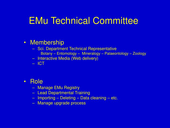 EMu Technical Committee