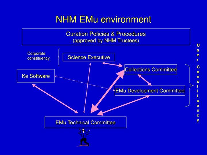 NHM EMu environment