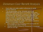 dickerson cost benefit analysis