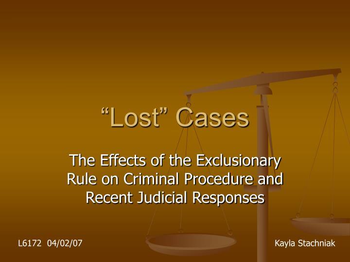 lost cases n.