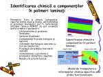 identificarea chimic a componen ilor n polimeri lamina i