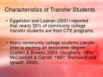 characteristics of transfer students3