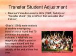 transfer student adjustment2